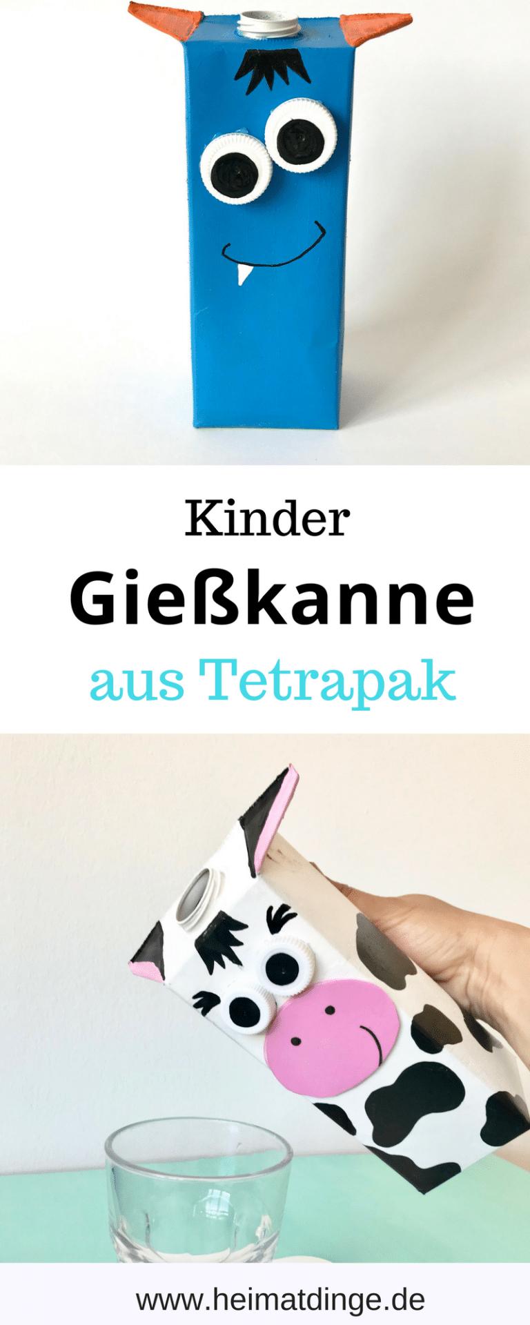 """Photo of Gießkanne für Kinder: Kuh """"Elsa"""" aus Tetrapak selber machen –"""