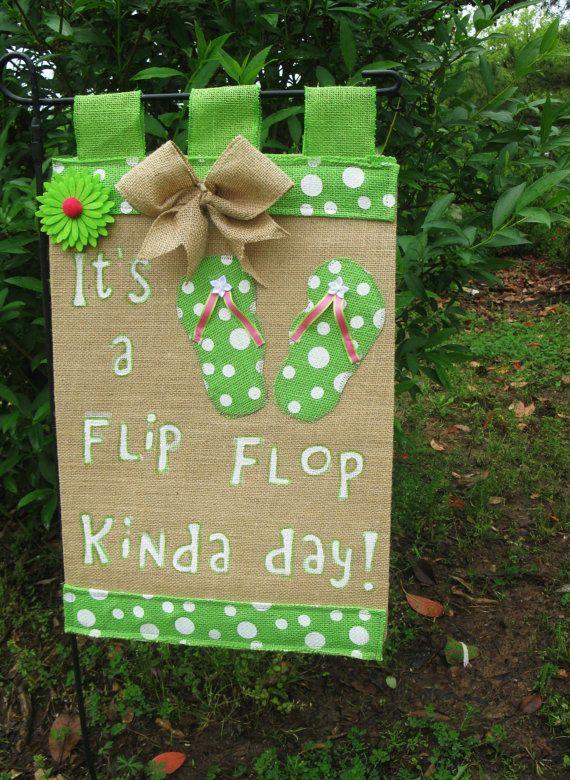 Flip Flop Garden Flag - Summer Flag- Mohter\'s Day Gift- Pool Party ...
