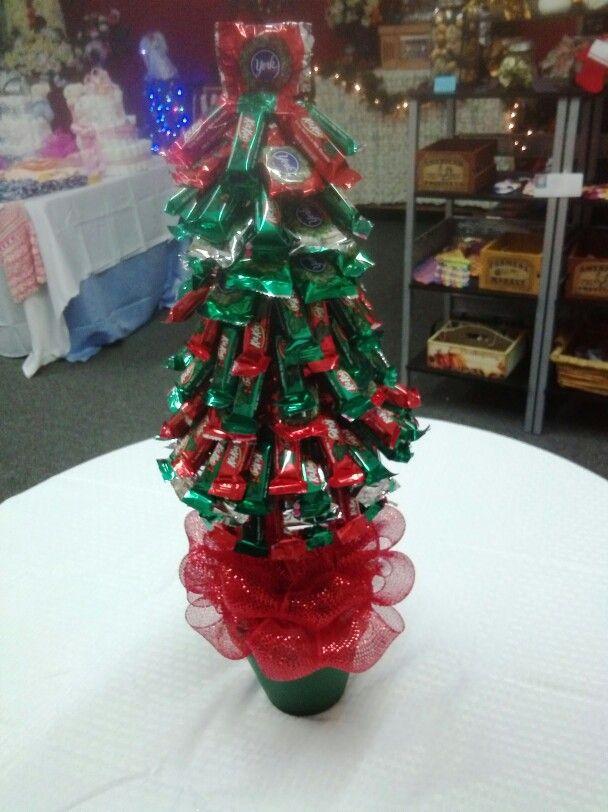 Christmas Themed Candy Tree Teacher Gift Idea Candy Christmas Tree Neighbor Christmas Gifts Easy Christmas Crafts