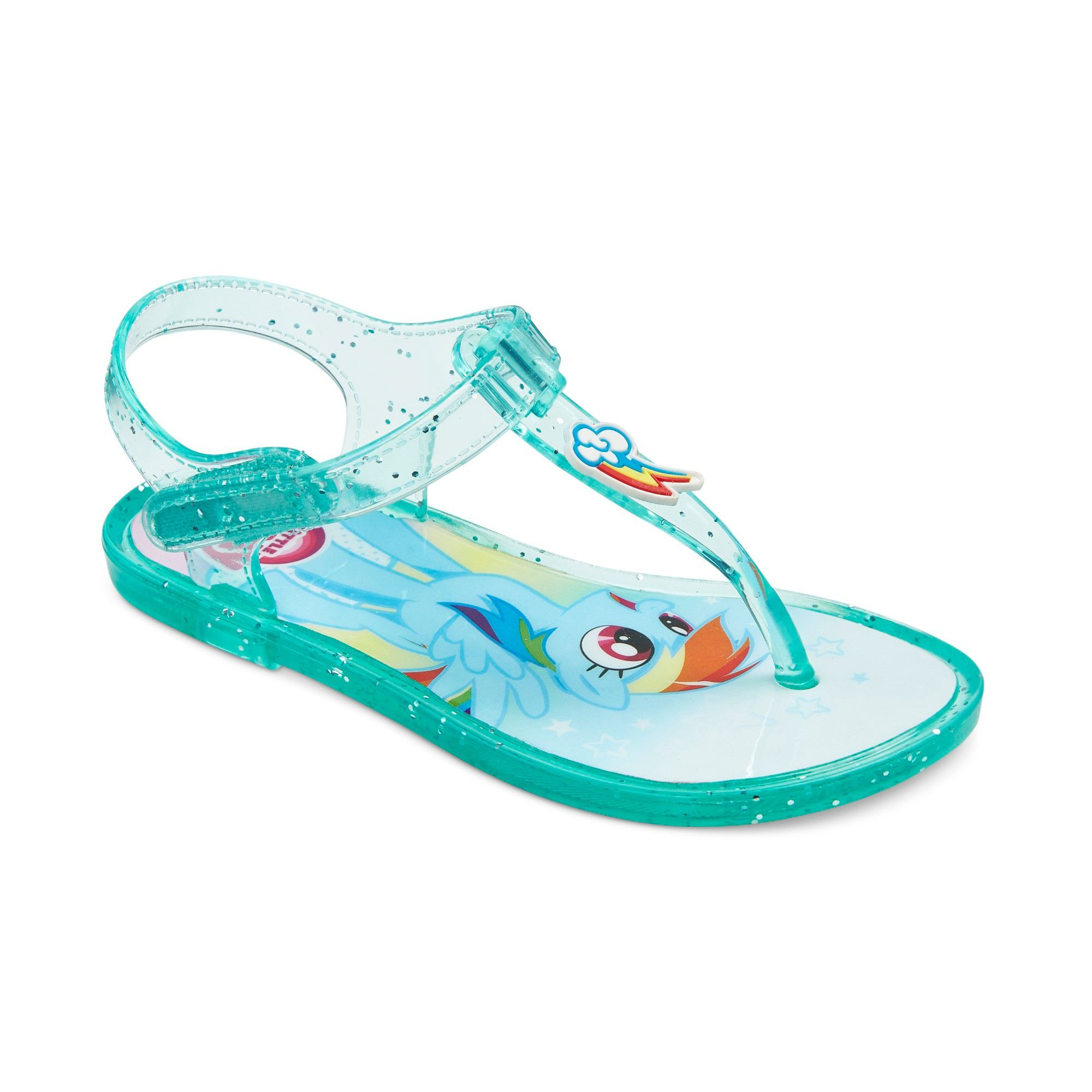 92f5787301ce My Little Pony Toddler Girls  Rainbow Dash Jelly Sandals - Turquoise ...