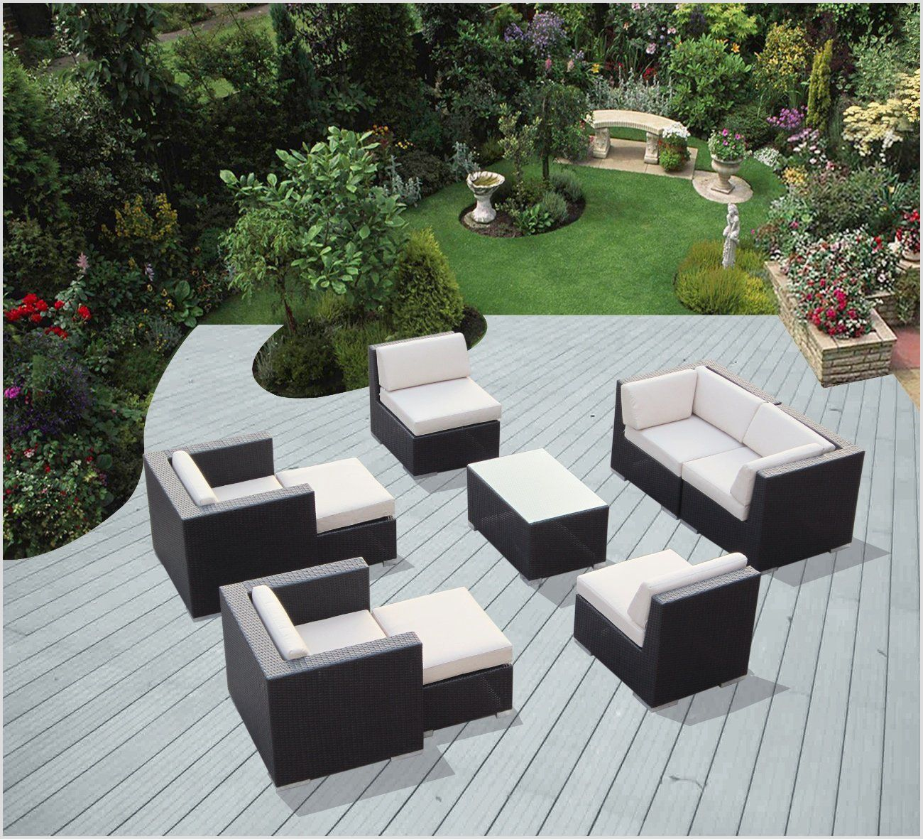Exclusive Outdoor Furniture Ohana Collection Genuine Ohana Outdoor Patio  Wicker Furniture All Weather Gorgeous Couch Set With Free Patio Cover
