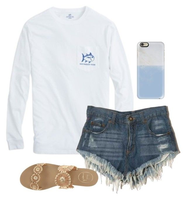"""""""Untitled #66"""" by madelyn-abigail ❤ liked on Polyvore featuring Casetify and Jack Rogers"""