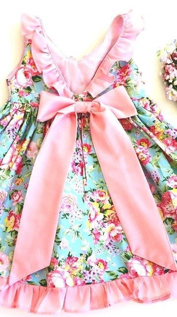 girls clothes shabby chic toddler dress