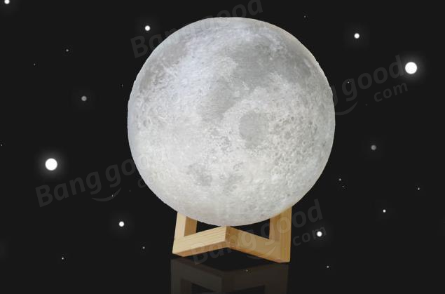 10cm 3d Magical Two Tone Moon Lamp Usb Charging Luna Led Night Light Touch Sensor Gift Sale Banggood Mobile Night Light Kids Led Night Light Night Light