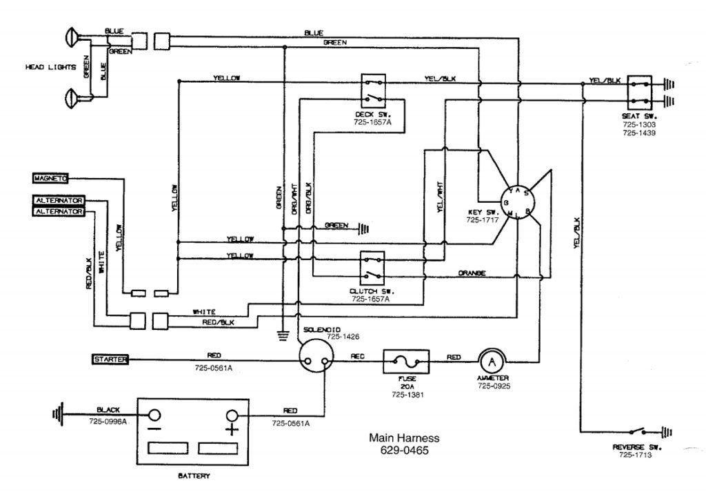 Mtd Riding Mower Wiring Diagram With Yard Machine On And | Electrical  diagram, Riding lawn mowers, TractorsPinterest