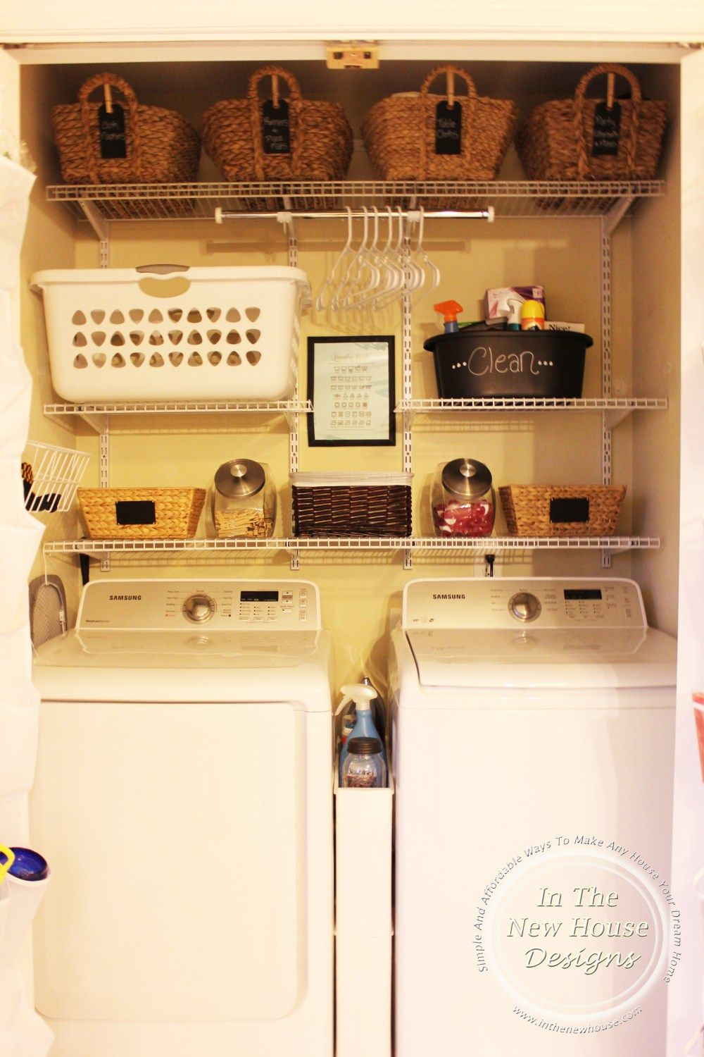 Super Functional Small Laundry Closet Remodel On A Budget