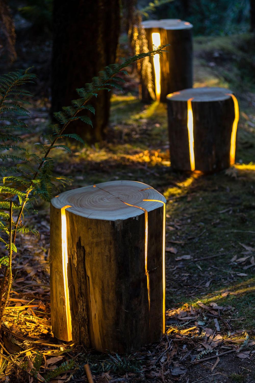 Electric Light Garden Lamp Wood Tree Tree Stump Electric Garden Lamp Light Stump Tree Wood In 2020 Garden Lighting Design Diy Outdoor Lighting Backyard Lighting
