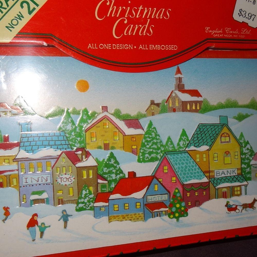New Box Christmas Cards 21 Village K-Mart Holiday Greeting