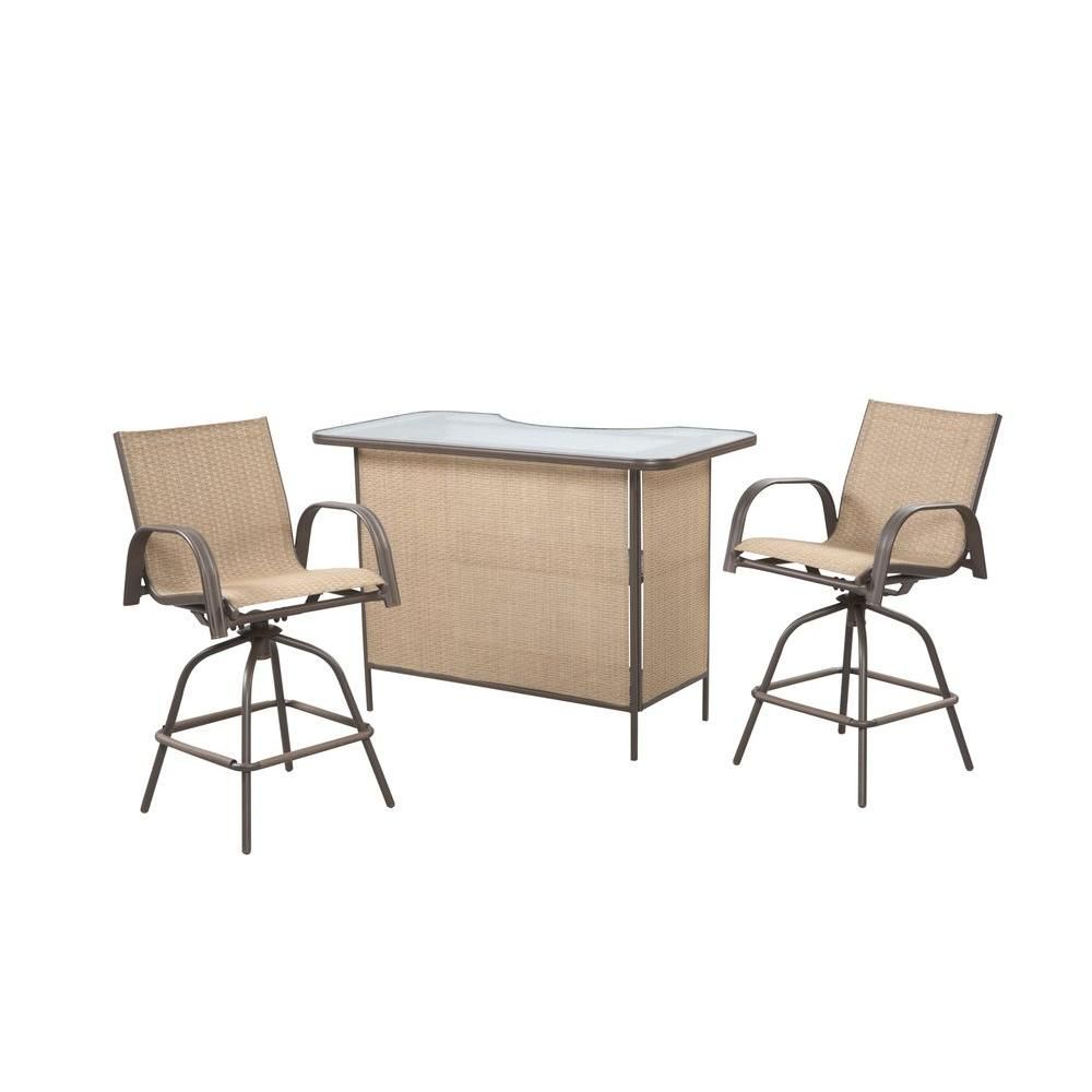 Hampton Bay 3 Piece Patio Bar Set With Levelers Products Patio