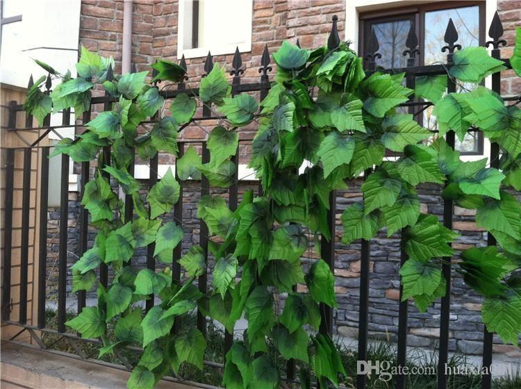 2020 240cm Fence Artificial Silk Simulation Grape Leaf Climbing