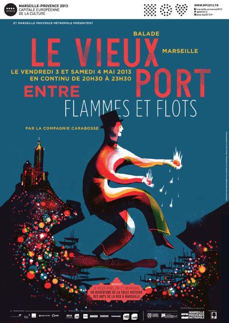 Le Vieux Port Entre Flammes Et Flots Lola Duval Raphael Urwiller Marseille Affiche Vieux Port De Marseille