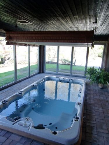 Hot Tub Pictures Photos Of Installed Spas Hot Tubbing Ideas Indoor Swim Spa Pool Hot Tub Hot Tub