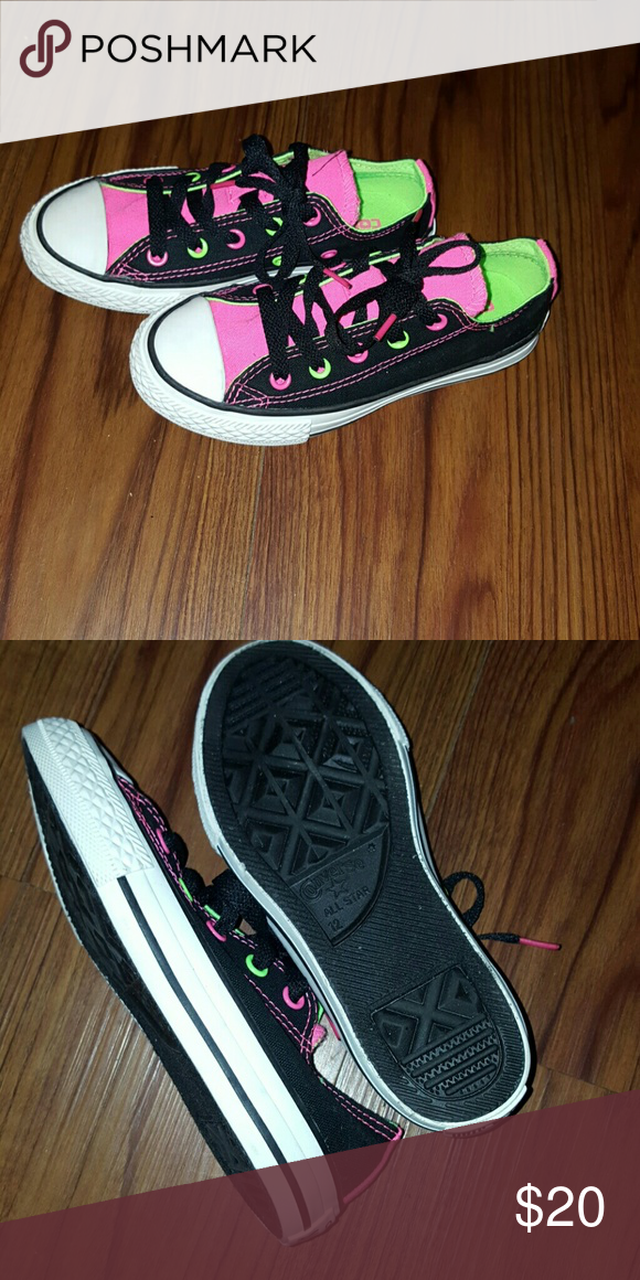 *New* Converse Kids Sneakers Kids sneakers from Converse. Neon colors. Never worn! Size 12. Converse Shoes Sneakers