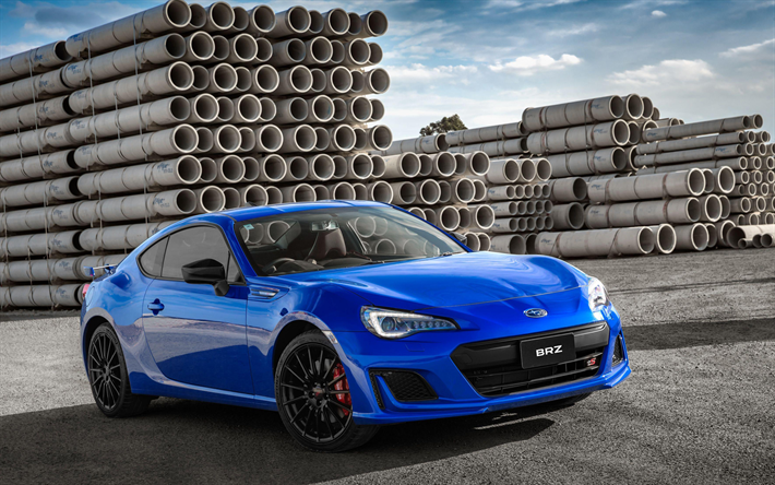Download Wallpapers Subaru Brz Ts 4k 2017 Cars Coupe Tunned