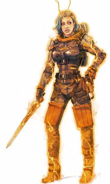 Lashunta Xenoseeker Solarian - Starfinder RPG (Core Rulebook