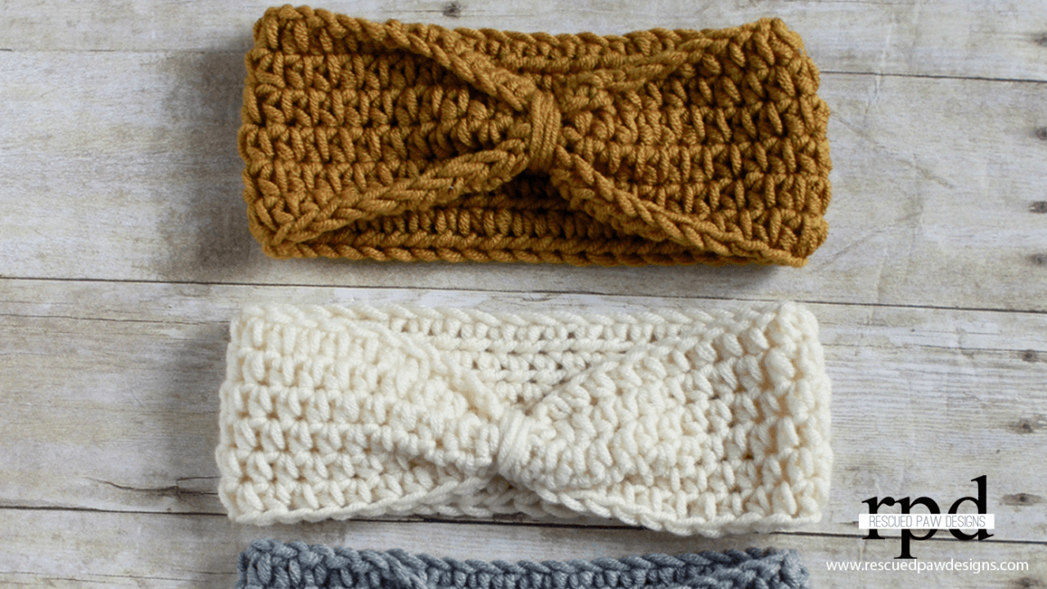 Knotted Headband Crochet Pattern - Multiple Sizes | Pinterest ...