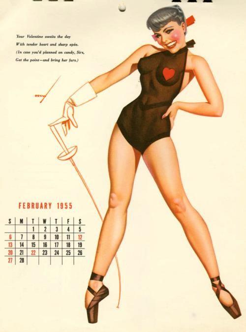pinup calendar Vintage