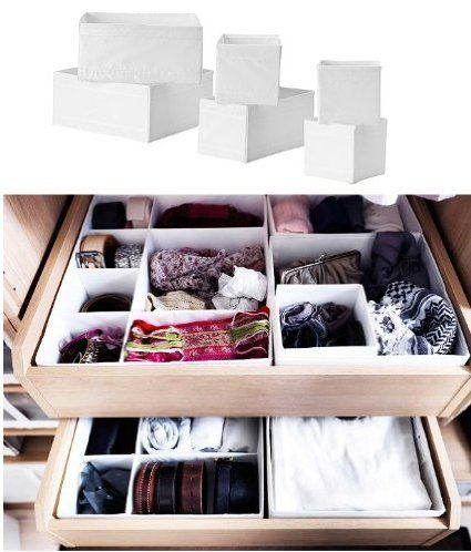 Ikea Skubb Storage Box Drawer Organizer Multiuse Set Of 6 White Ikea Storage Boxes Ikea Storage Clothes Drawer Organization