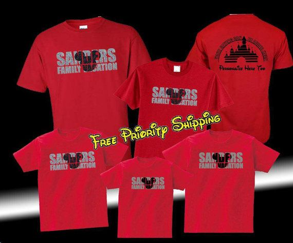 Disney family shirts fast and free shipping family for Custom shirts fast delivery