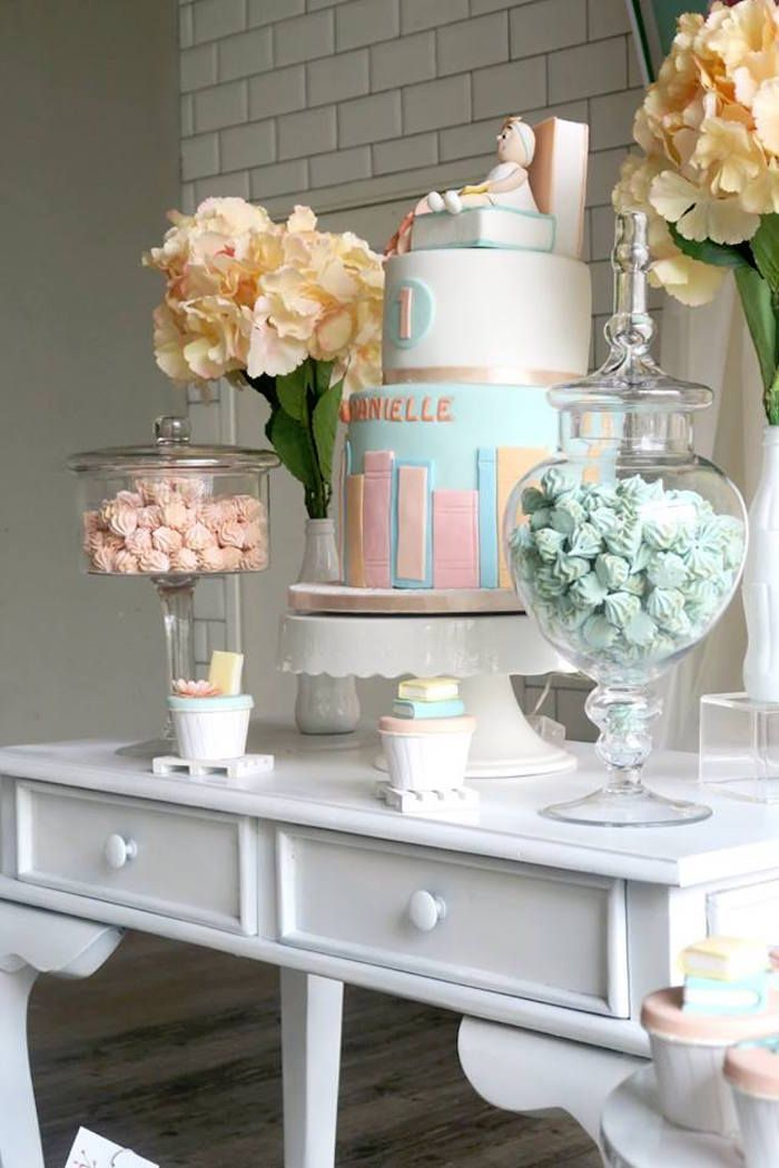 Pastel Book Themed 1st Birthday Party | Kara's Par