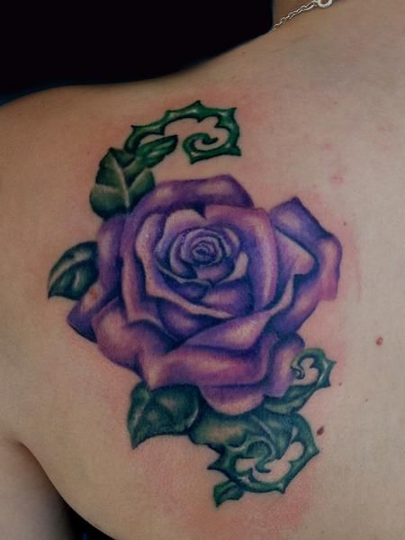 Purple Rose Tattoo Tattoos Lavender Rose Tattoo Pinterest