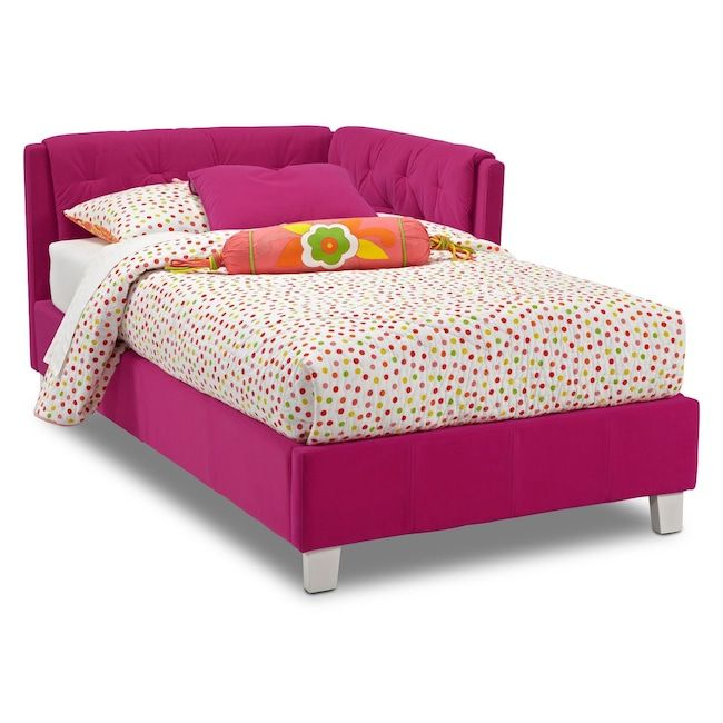 Jordan Twin Corner Bed Pink Corner Twin Beds Bed In Corner