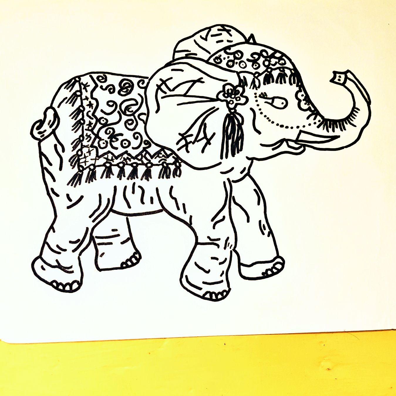Meine Zeichnung von einen Indischer Elefant