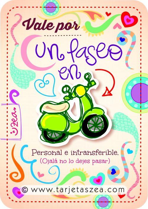 Vale por un paseo en moto personal e intransferible for Cerco moto gratis in regalo