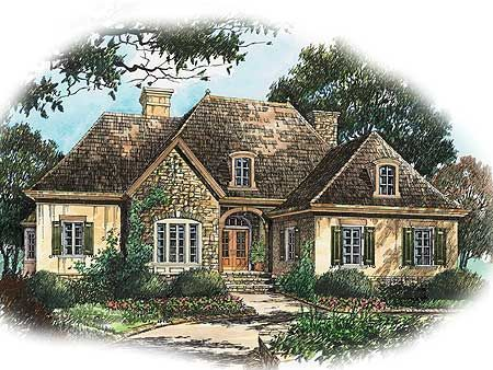 plan 56130ad french country charm - French Country Ranch House Plans