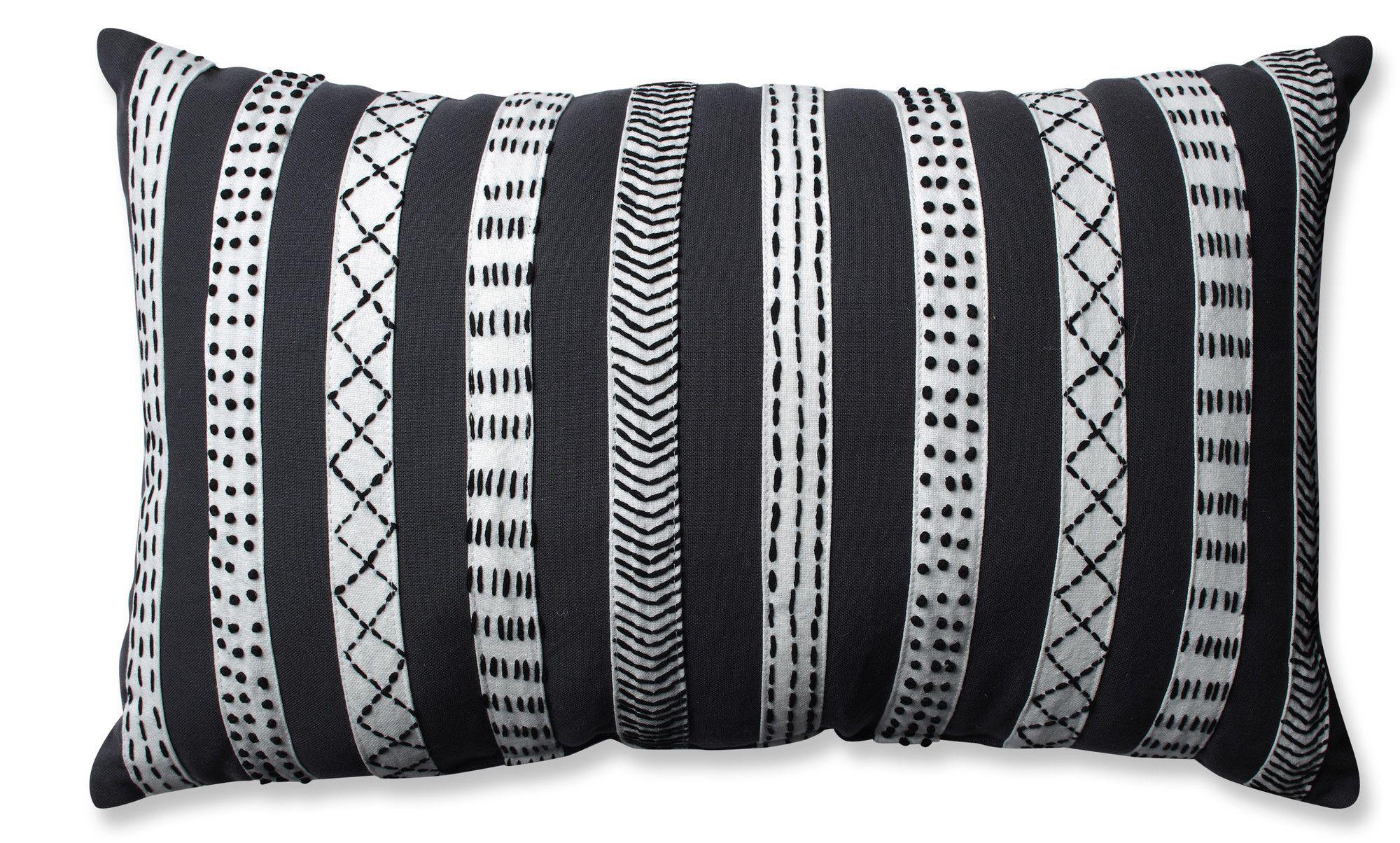 Tribal Bands Cotton Lumbar Pillow Throw Pillows Black Throw Pillows Perfect Pillow
