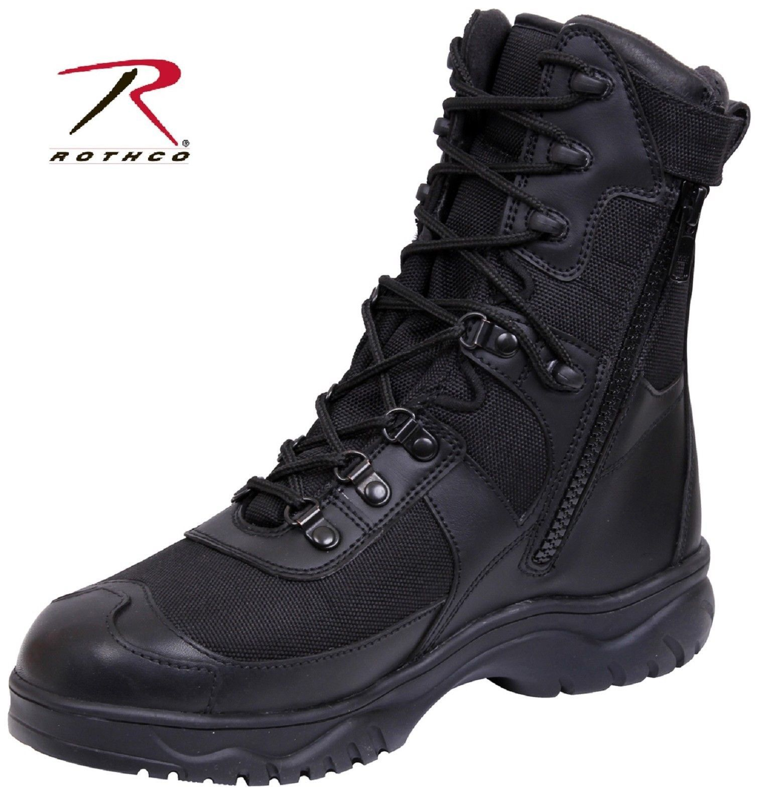 men's tactical boots side zipper