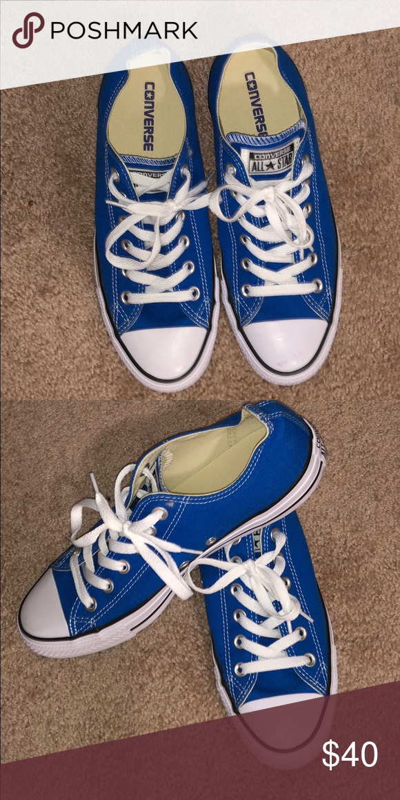 Blue Converse I purchased these blue men's size 7, women's