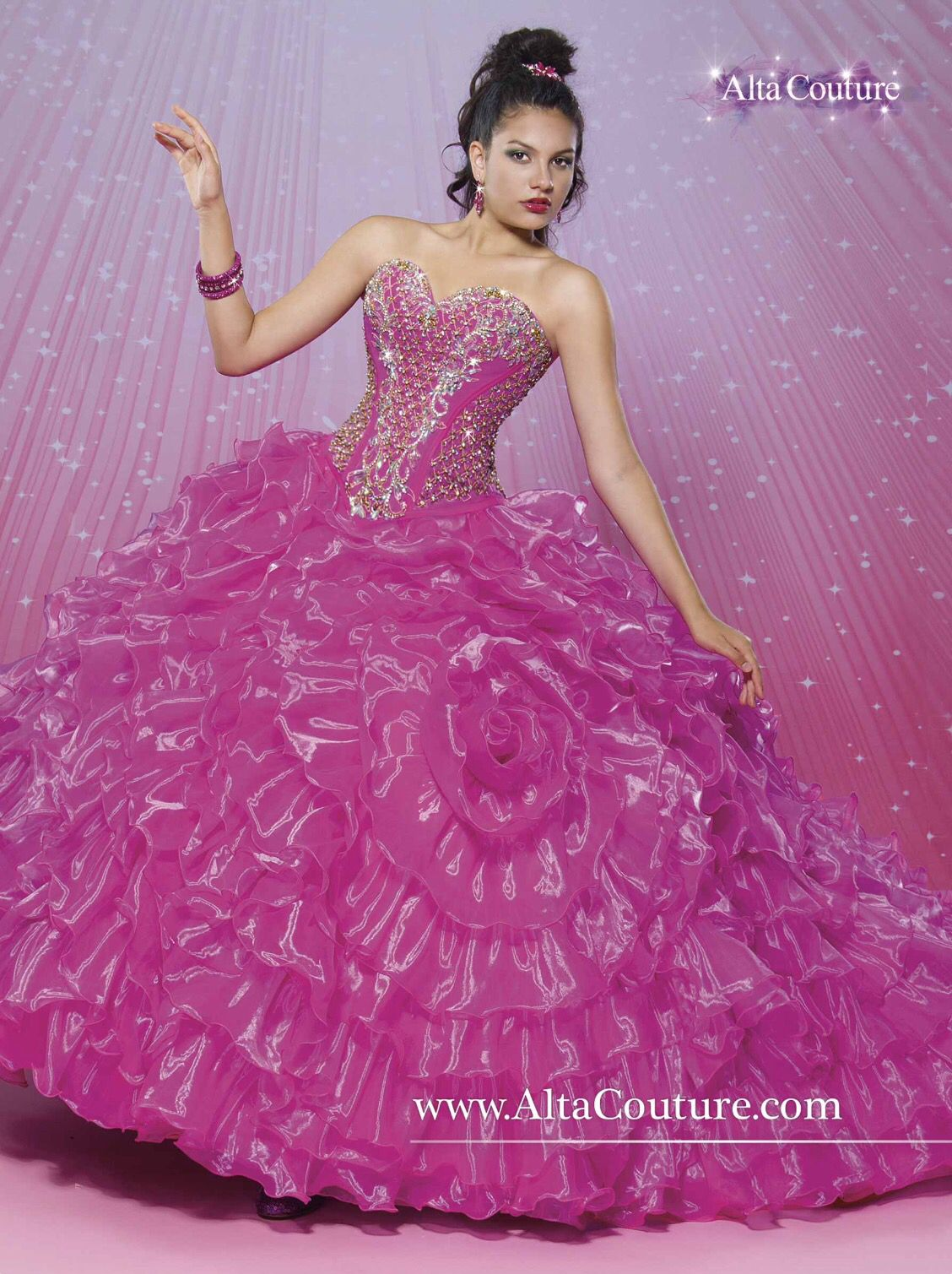 Dark pink dress | Quinceanera | Pinterest | Vestido de 15 año ...