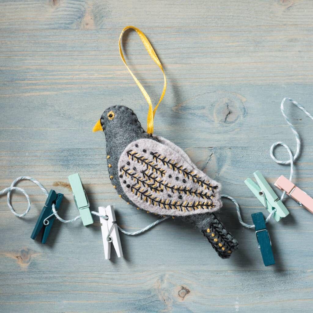 12 Days Of Christmas Colly Bird Felt Mini Kit By Corinne Lapierre Colly Birds 12 Days Of Christmas Felt Crafts