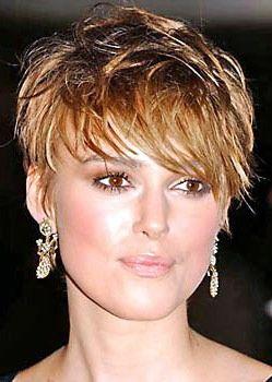 Attractive Celebrity Very Short Hair Cuts   Keira Knightley
