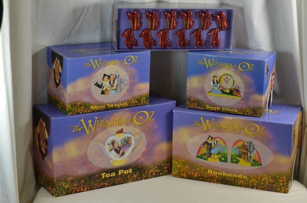 Wizard Of Oz Turner Tea Pot Bookends Desk Clock Mini Teapot Shower Curtain Hooks