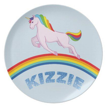 Kizzie Plate for children - kitchen gifts diy ideas decor special unique individual customized