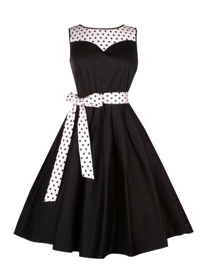 05e727bc77 Robe mi-longue Pin-Up Vintage Rockabilly Dolly And Dotty