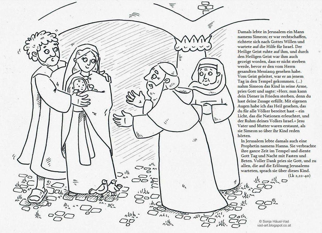 Ausmalbilder zur Bibel | Lichtmess | Pinterest | Tempel, Lichtmess ...