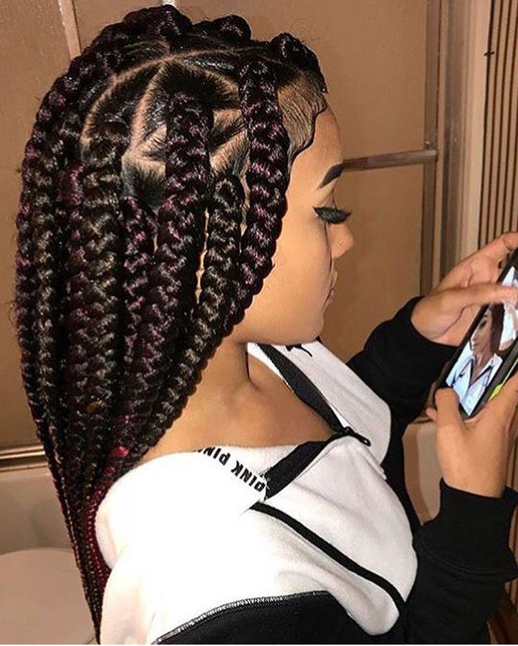 Pin By Beℓℓa Bℓeรรe On Braids Short Box Braids Hairstyles Box Braids Hairstyles For Black Women Short Box Braids
