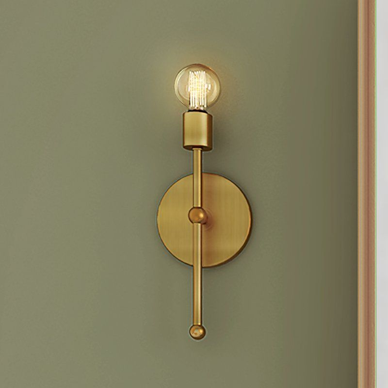 Bautista 1 Light Glam Steel Wallchiere Wall Lights Sconce Lighting Wall Sconces