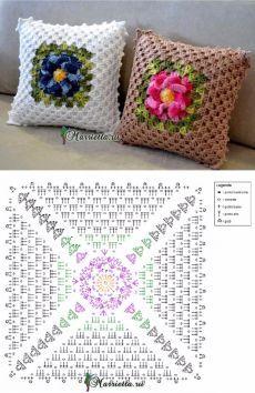 Capa De Almofada De Croche Com Imagens Capas De Almofadas De