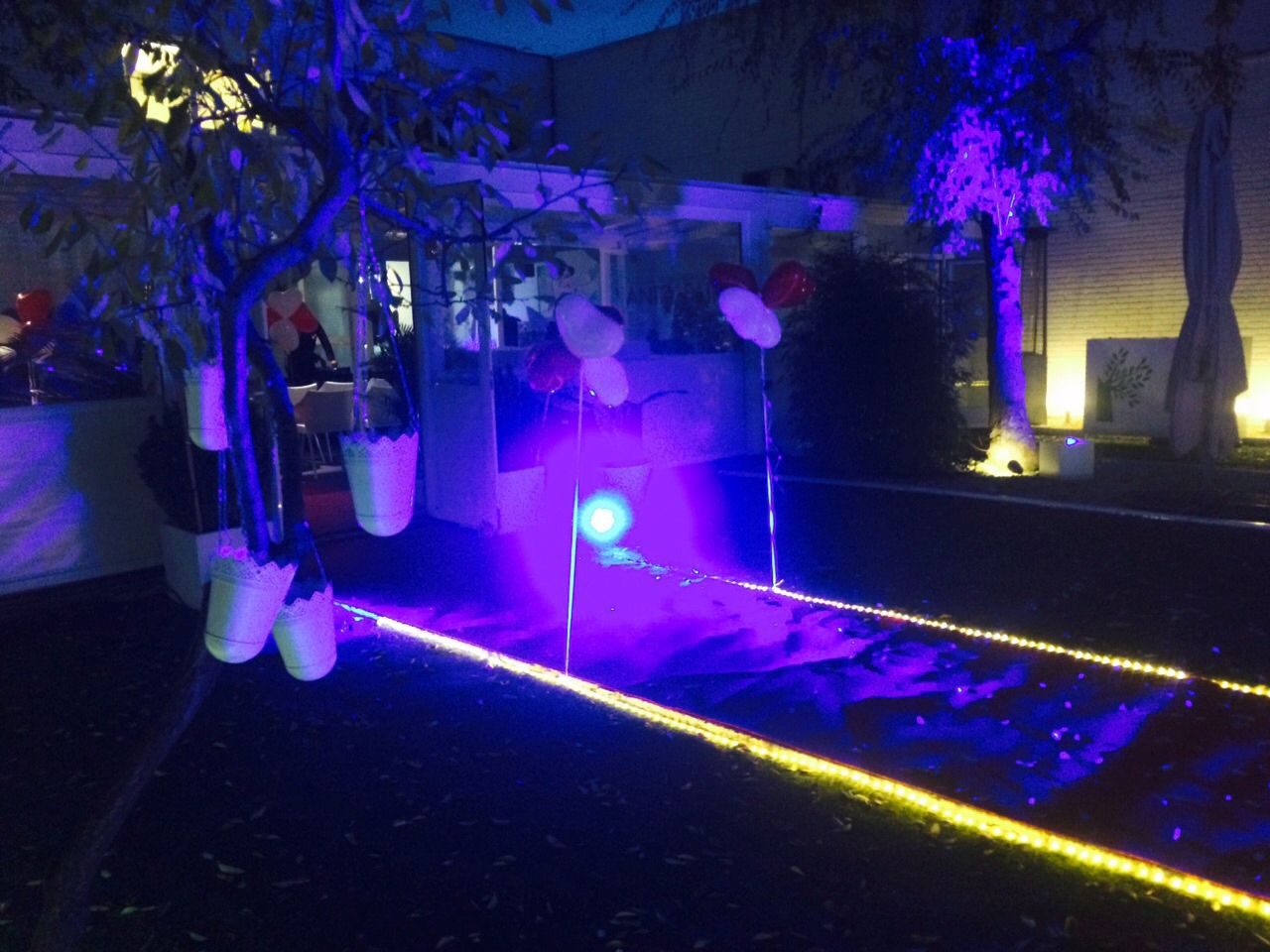 De boda wedding iluminaci n ambiental de led led for Iluminacion ambiental