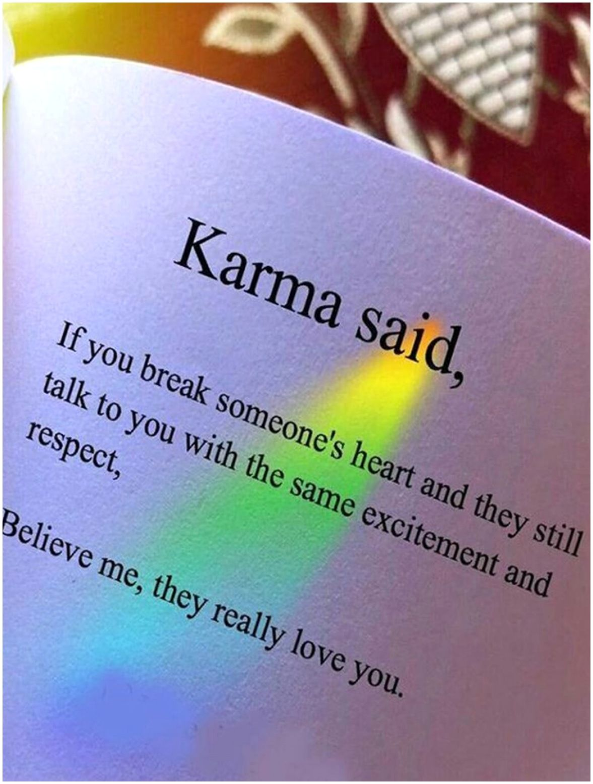 Karma Quotes On Breaking Someone Heart