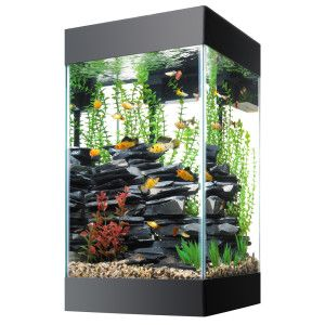 15 Gallon Aquarium Aqueon 15 Gallon Column Deluxe