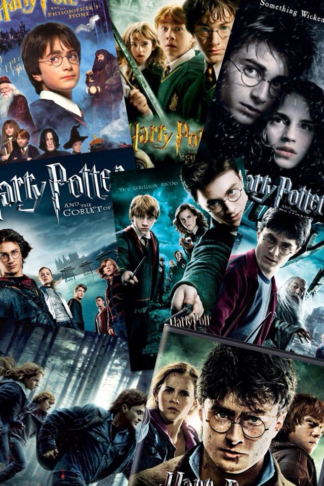 Harry Potter Collage From The 1st Movie To The Last Peliculas De Harry Potter Harry Potter Peliculas