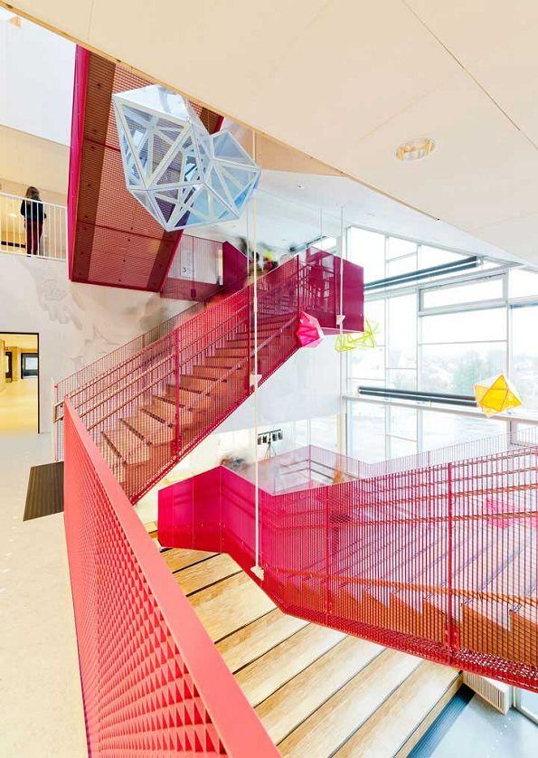 Школа по вертикали: Mesterfjellet School в Ларвике, Норвегия. CEBRA Architecture, 2014