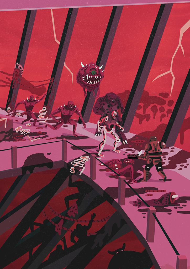 Thomashoweint6 Doom cover, Doom 2016, Geek art