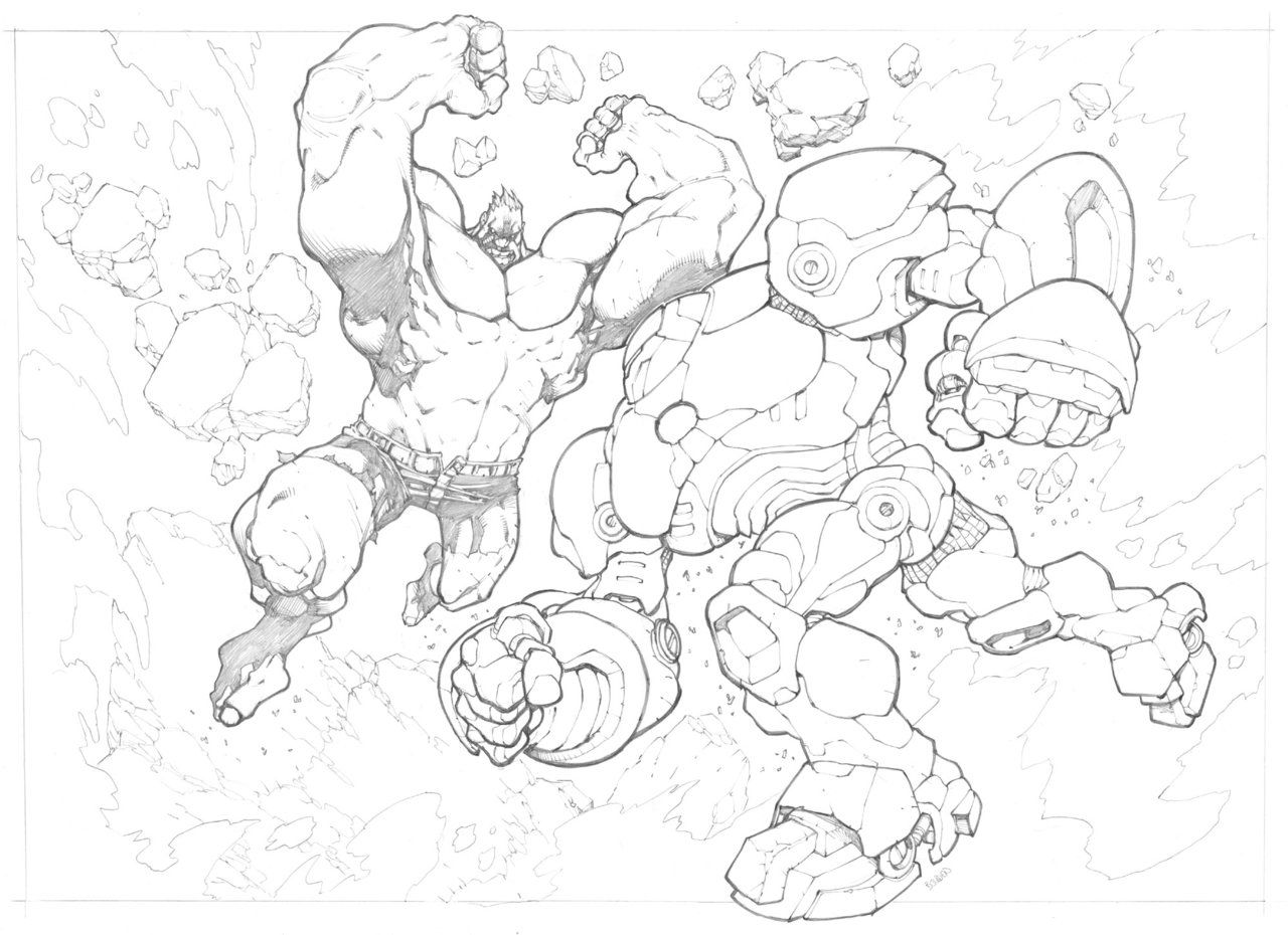 Hulkbuster by mikebowden | Lineart: Hulk VS. ? | Pinterest