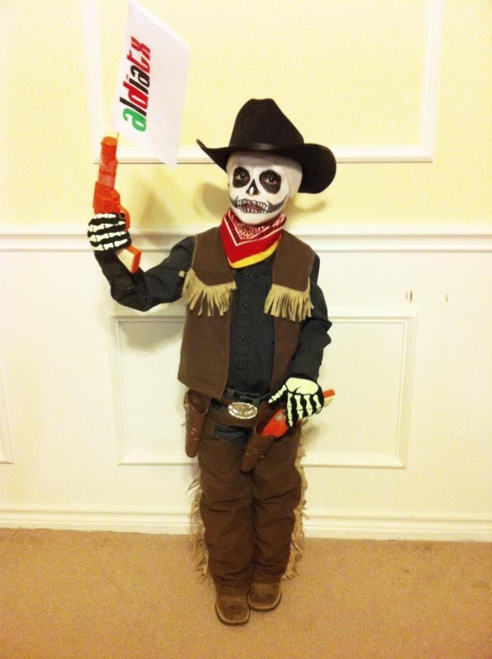 Cowboy Skeleton Halloween Boys Halloween Kids Homemade Halloween Costumes